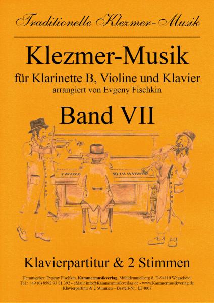 Klezmer-Musik – Band VII für Klarinette B, Violine und Klavier