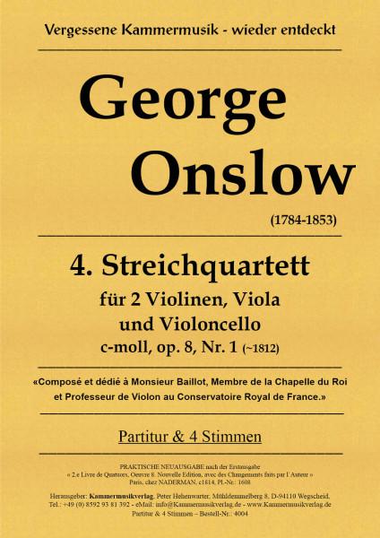 Onslow, George – Streichquartett Nr. 04 in c-Moll, op. 8-1