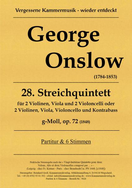 Onslow, George – Streichquintett Nr. 28 g-Moll, op. 72