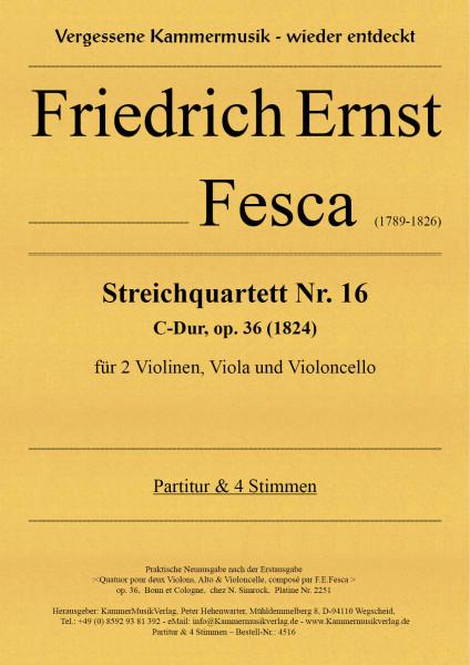 Fesca, Friedrich Ernst – Streichquartett Nr. 16, C-Dur, op. 36