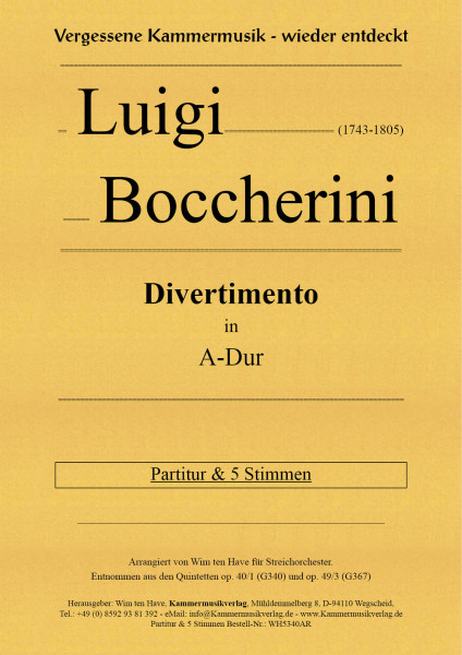 Boccherini, Luigi – Divertimento in A-Dur