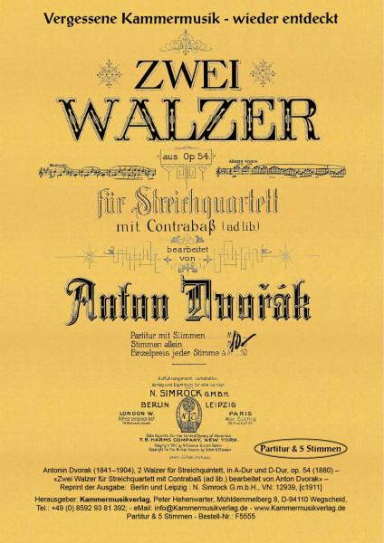 Dvorak, Antonin – 2 Walzer für Streichquintett