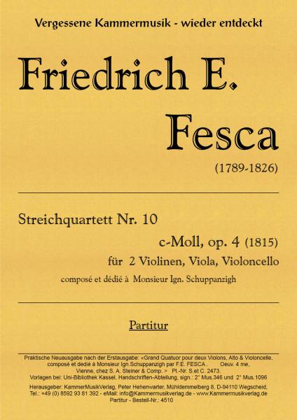 Fesca, Friedrich Ernst – Streichquartett Nr. 10