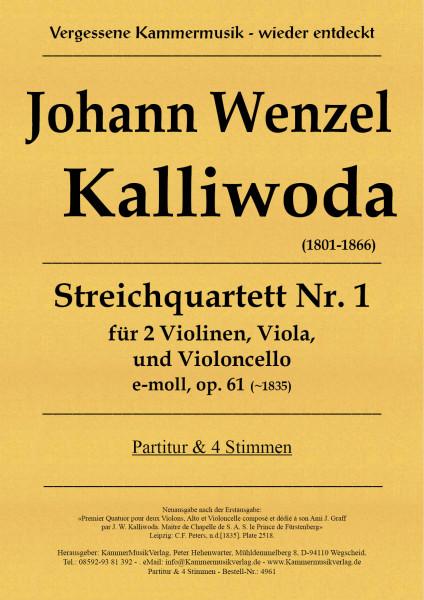 Kalliwoda,Johann Wenzel – Streichquartett Nr. 1