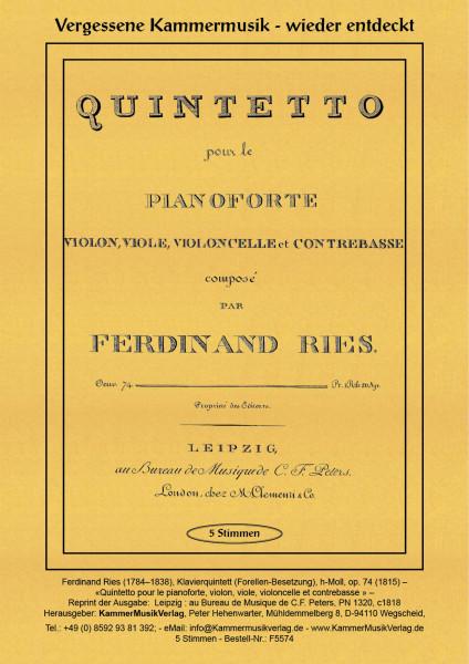 Ries, Ferdinand – Klavierquintett, h-Moll, op. 74