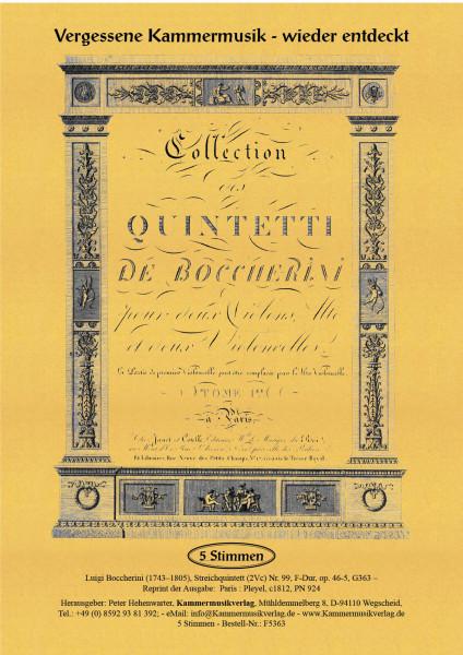 Boccherini, Luigi – 99. Quintett für 2 Violinen, Viola und 2 Violoncelli