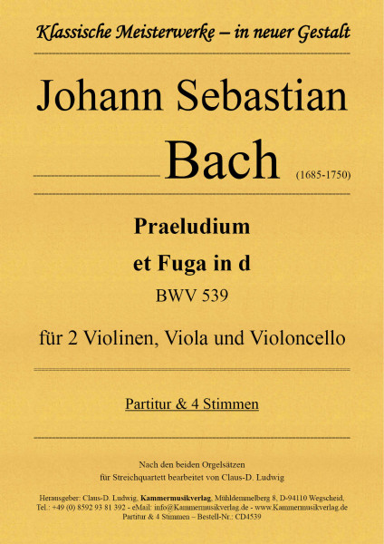Bach, Johann Sebastian – Praeludium et Fuga in d