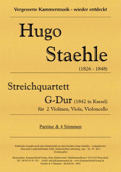 Staehle, Hugo – Streichquartett, G-Dur