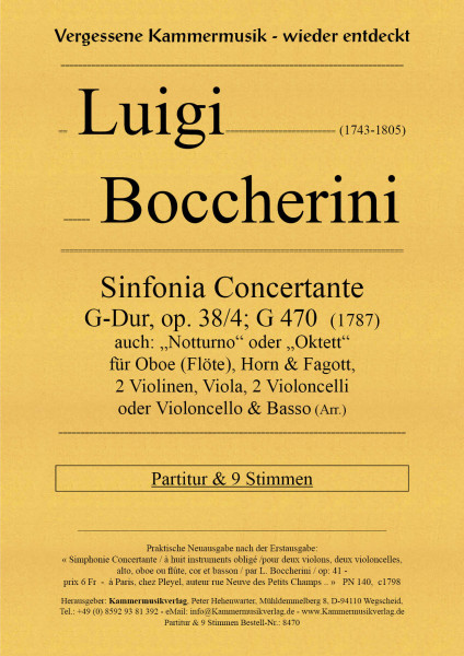Boccherini, Luigi – Sinfonia Concertante