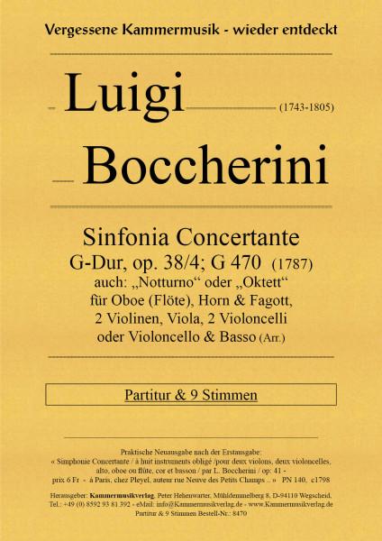 Boccherini, Luigi – Sinfonia Concertante, G-Dur, op. 38/4; G 470
