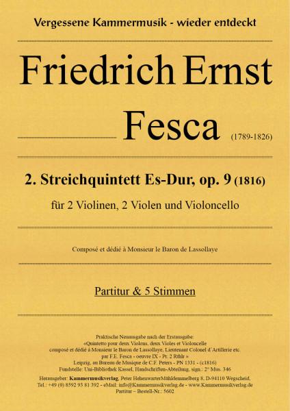 Fesca, Friedrich Ernst – Streichquintett Nr. 2, Es-Dur, op. 9