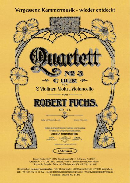 Fuchs, Robert – Streichquartett Nr. 3