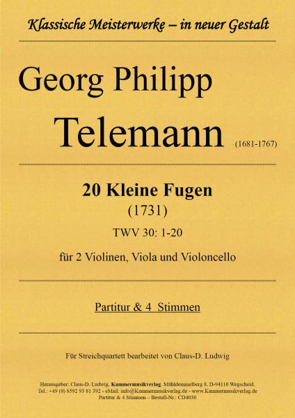 Telemann, Georg Philipp – 20 Kleine Fugen für Streichquartett