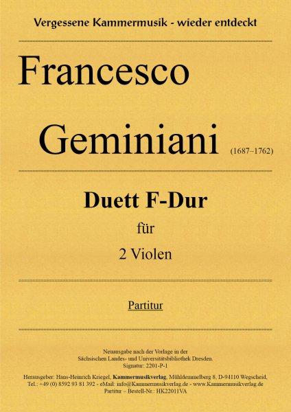 Geminiani Francesco – Duett F-Dur für 2 Violen