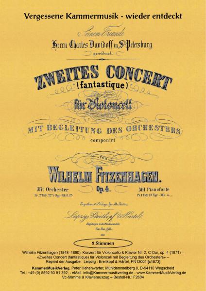 Fitzenhagen, Wilhelm – Konzert für Violoncello & Klavier Nr. 2, C-Dur, op. 4