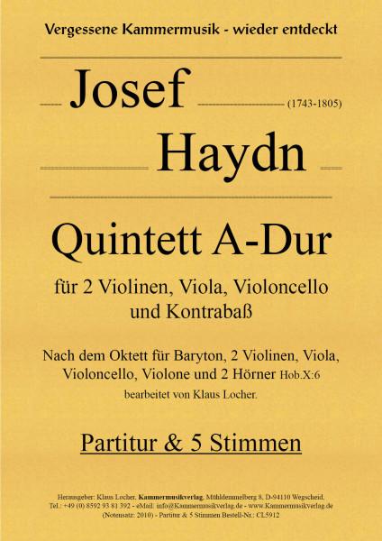 Haydn, Josef – Quintett für 2 Violinen, Viola, Violoncello & Kontrabaß