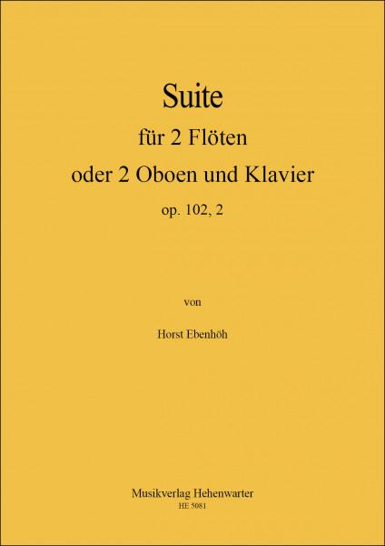 Ebenhöh, Horst – Suite für 2 Flöten oder 2 Oboen und Klavier