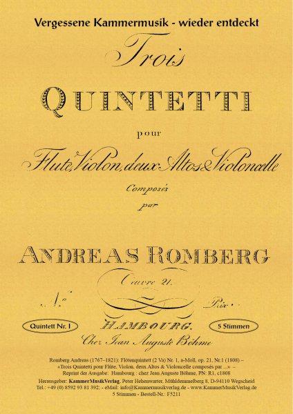 Romberg, Andreas – Flötenquintett (2 Va) Nr. 1, a-Moll, op. 21, Nr.1