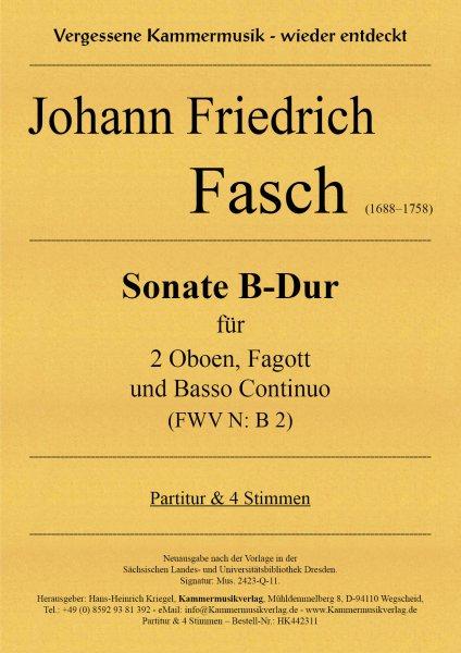 Fasch, Johann Friedrich – Sonate B-Dur (FWV N: B 2)
