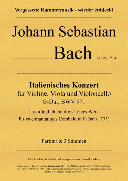 Bach, Johann Sebastian – Italienisches Konzert für Violine, Viola & Violoncello