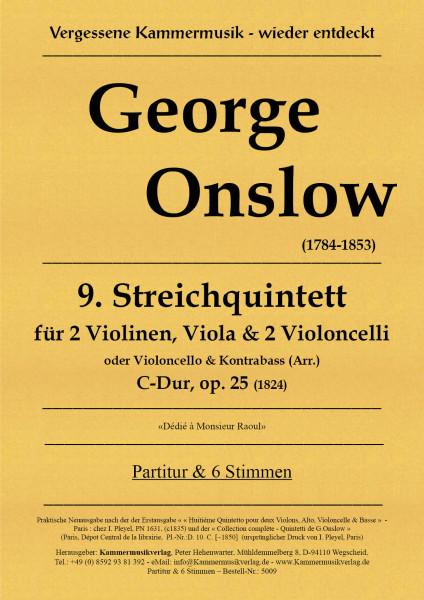 Onslow, George – Streichquintett Nr. 09, C-Dur, op. 25